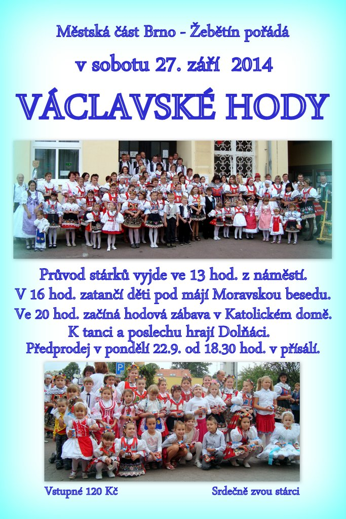 Plakát hody 2013